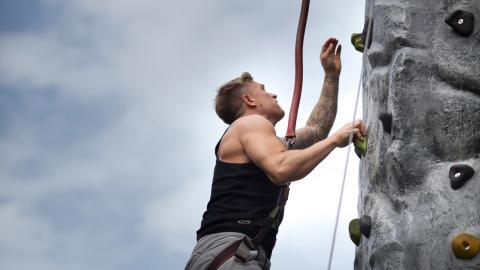 Climbing wall event